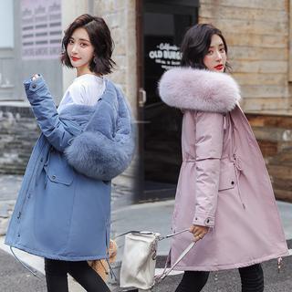 羽绒棉服女时尚中长款冬季2019新款很仙的学生oversize派克服外套