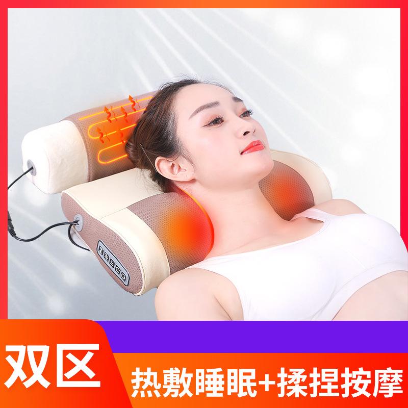 艾灸加热颈部按摩器仪颈肩电动颈椎枕头按摩枕劲椎肩颈理疗多功能