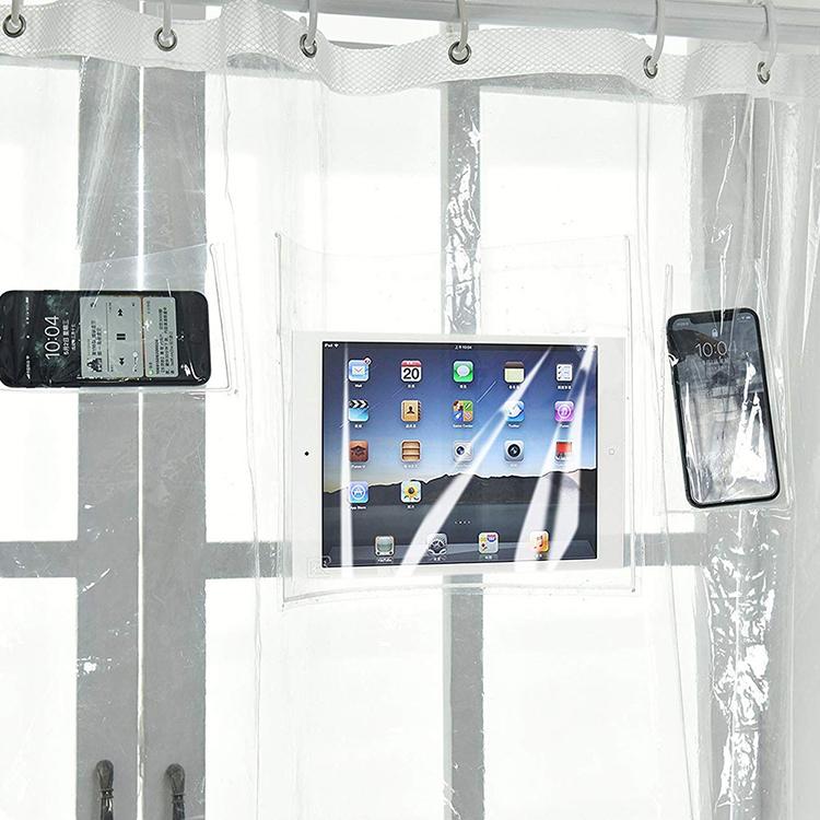 收纳防水帘袋子挡水门帘放手机电子产品个性口袋高清透明塑料浴帘