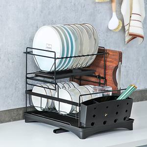 碗架沥水架北欧厨房双层置物架碗碟架晾放盘子杯子用品碗筷收纳盒