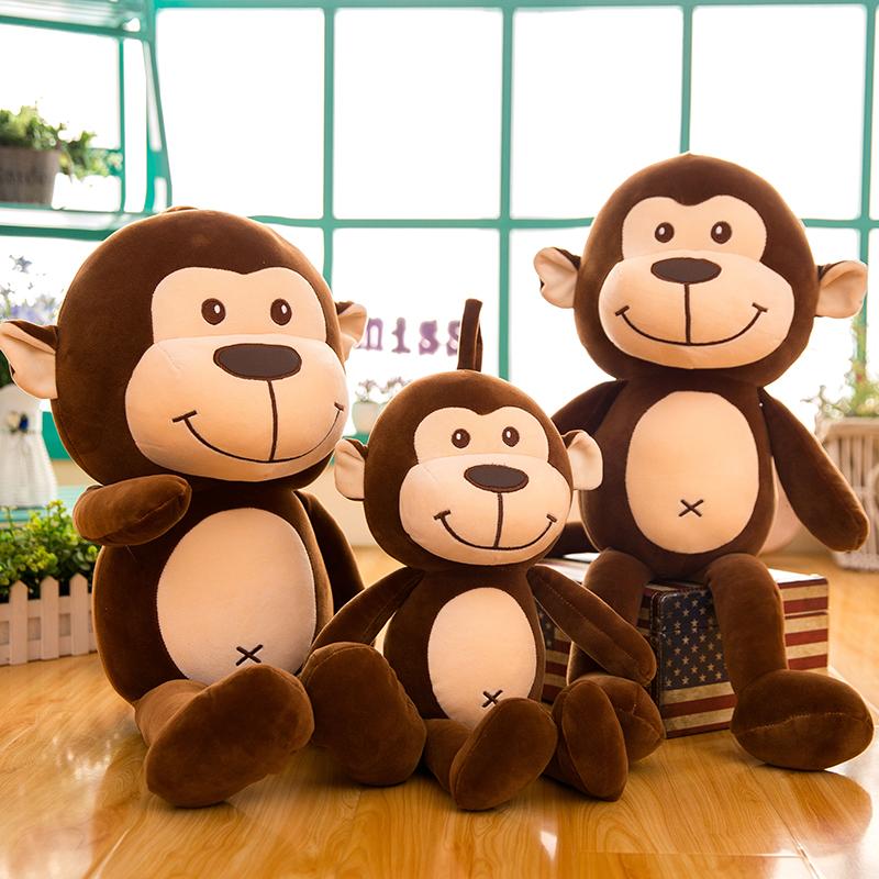 毛绒玩具长腿猴子公仔可爱布娃娃玩偶睡觉大号抱枕女孩生日礼物