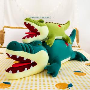 鳄鱼公仔毛绒玩具睡觉懒人大号抱枕