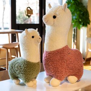 羊驼公仔毛绒玩具可爱小羊睡觉抱枕