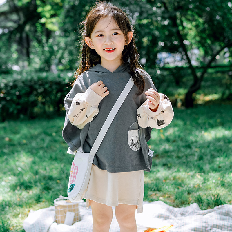 Good wind year after year literature and art girl autumn suit 2020 new small shirt dress set foreign style baby autumn dress