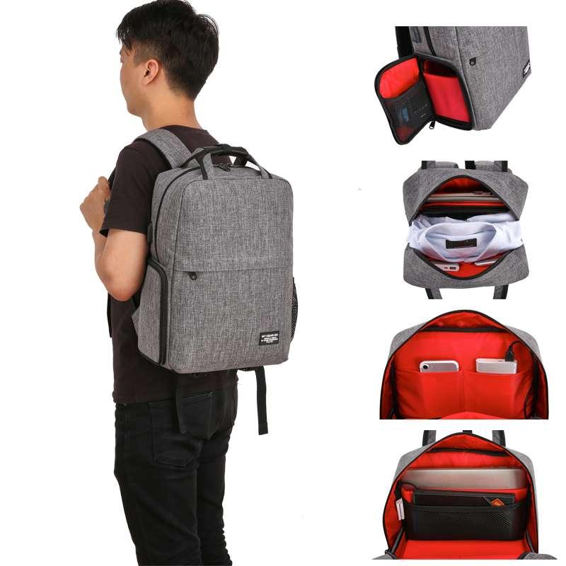 时尚休闲相机双肩包旅行轻便多功能摄影背包单反照相机摄影包防水