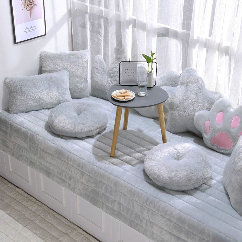 网红毛绒飘窗垫窗台垫2021年新款阳台飘窗毯垫子卧室四季通用装饰