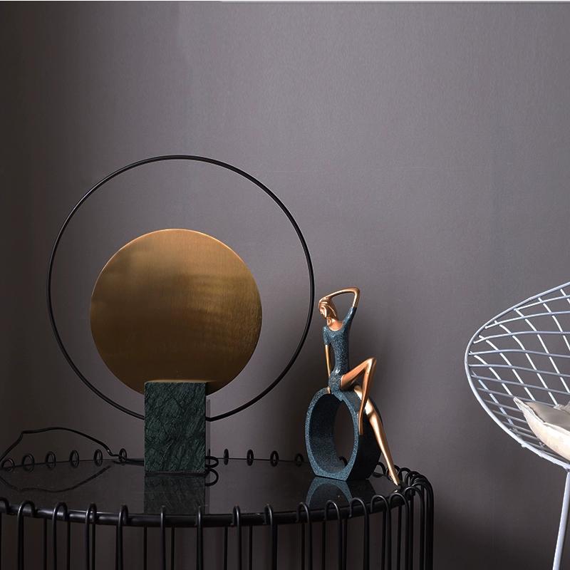 现代创意大理石床头台灯北欧设计师个性轻奢卧室简约客厅装饰桌灯