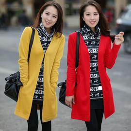 大码女装秋季新款针织衫外套微胖妹妹显瘦中长款假两件毛衣200斤