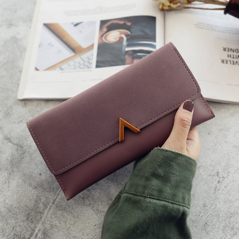 Wallets womens long new womens 30% discount Korean fashion personalized wallets female students thin ins mini card bag women