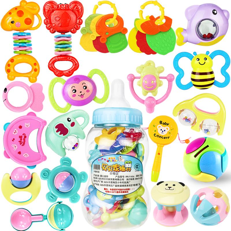 婴儿玩具新生手摇铃牙胶0-1岁宝宝儿童益智幼儿男孩3女孩12个月6