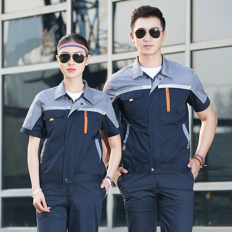 Summer labor protection suit electrician clothing hotel engineering department work uniform