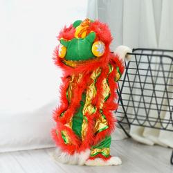 猫咪衣服抖音同款搞笑装新年狗衣服舞狮装喜庆宠物服装狮子搞怪装