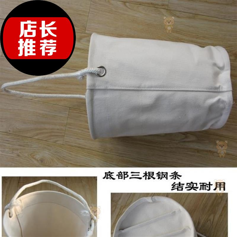 Electrical toilet bag construction hardware parts storage h sail cloth bag solid cylindrical sail cloth bag portable hanging bag small