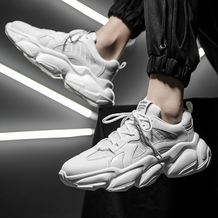 %3% wannaikest s super fire thick soled daddy shoes net top small white shoes versatile high casual sports shoes