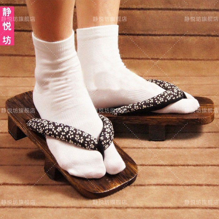 White cotton socks and kimono accessories two finger socks two toe socks Cosplay socks two teeth split toe socks clogs socks