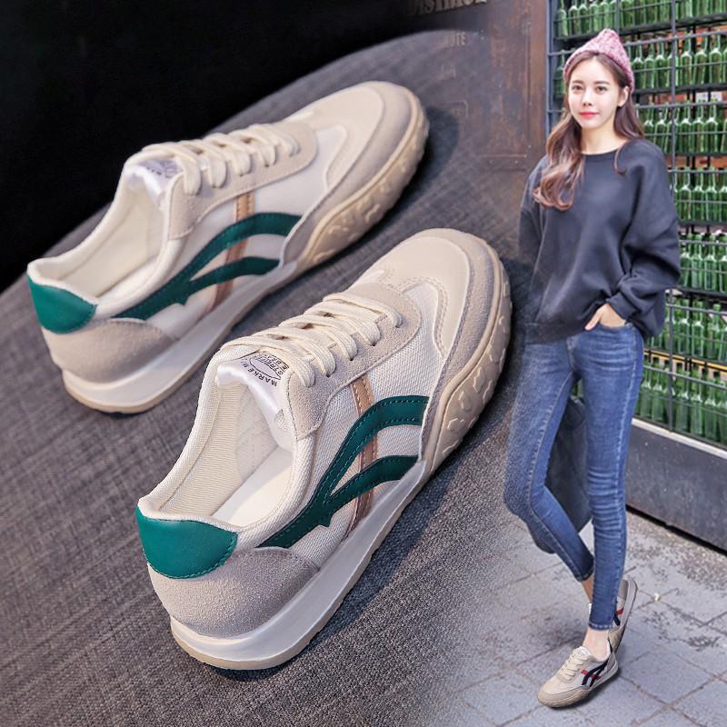 香港阿甘鞋女2021夏季新款百搭小白鞋网面透气休闲运动鞋复古板鞋