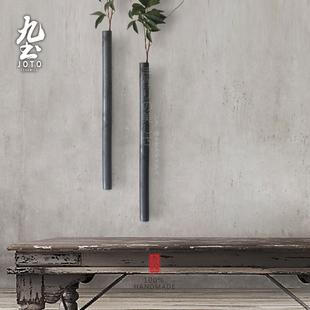 九土吊挂陶瓷花插花器现代壁饰工业风装饰品日式软装摆件花瓶装饰图片