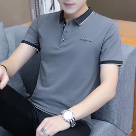 POLO衫男夏季短袖2020夏季新款商务韩版修身男士T恤潮流上衣潮男图片