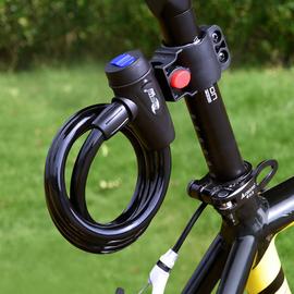 山地自行车锁电动电瓶单车密码固定便携式防盗钢丝链条锁配件大全