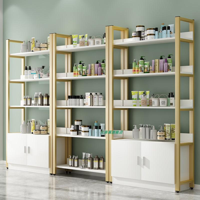 美容院展示柜指甲油美甲柜子落地化妆品中岛柜产品货架展示架展柜