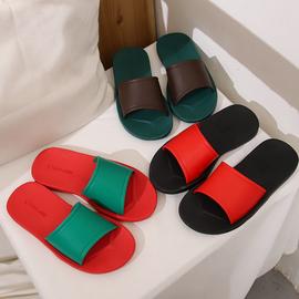 泰国橡胶拖鞋女外穿平底防水凉拖室内软底防滑舒适居家男女一字拖