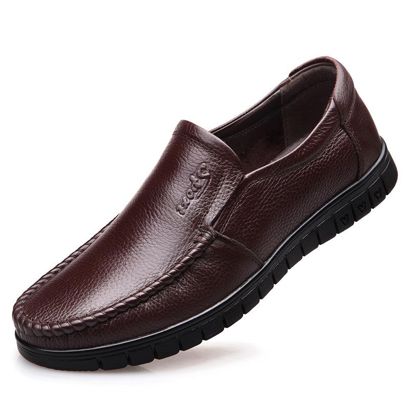 新冬天老年爸爸鞋子60防滑70爷爷80岁穿软底老人棉鞋男懒汉加棉品