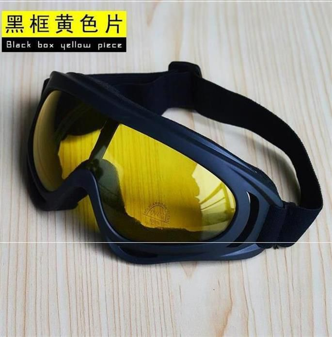 Night vision lens windproof glasses riding polarized pilot fashion transparent swimming lens wearing mens round face welding
