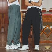 男直筒宽松港风夏季 北二出口日系复古垂感阔腿西裤 裤 坠感西装 薄款