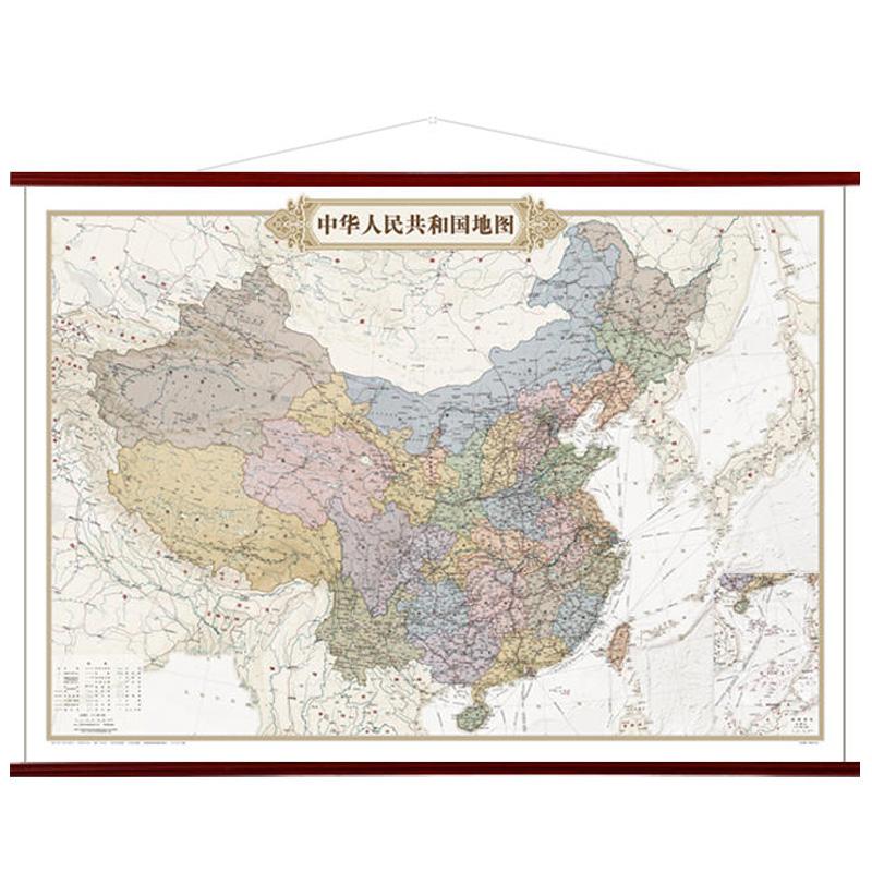 2019年新版中国地图客厅挂图墙贴