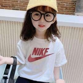 女童夏装短袖T恤2020新款童装儿童洋气半袖中大童韩版夏季上衣潮