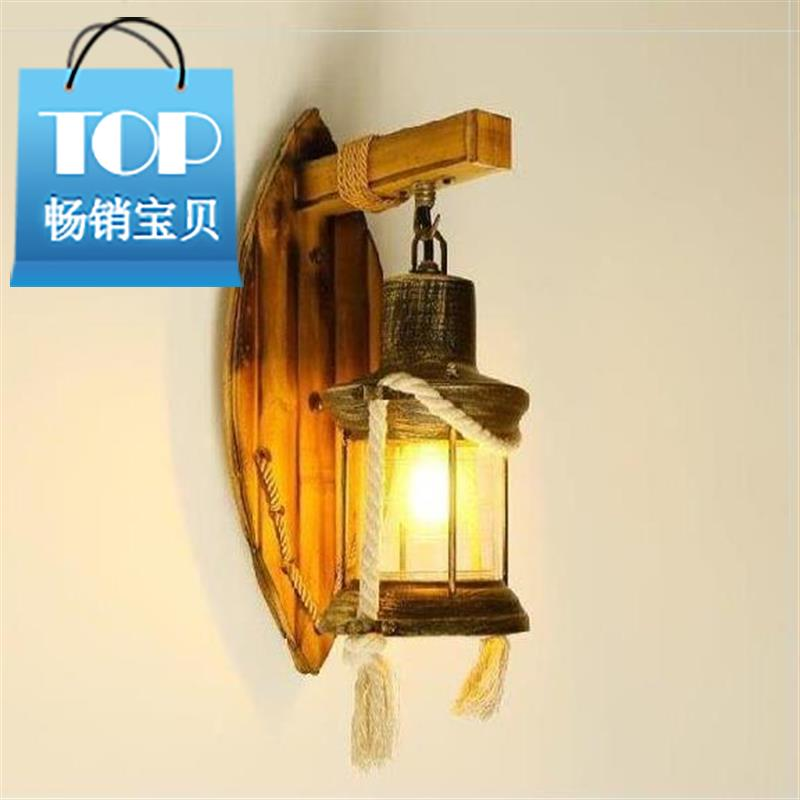 Gate lamp holiday village new style wall lamp toilet bamboo lamp homestay wall lamp nostalgic Farmhouse Hotel storefront Art