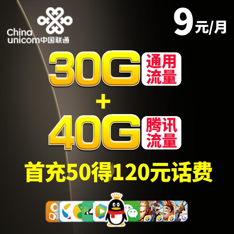 11-30新券联通无限大王卡4g上网卡不限电话卡