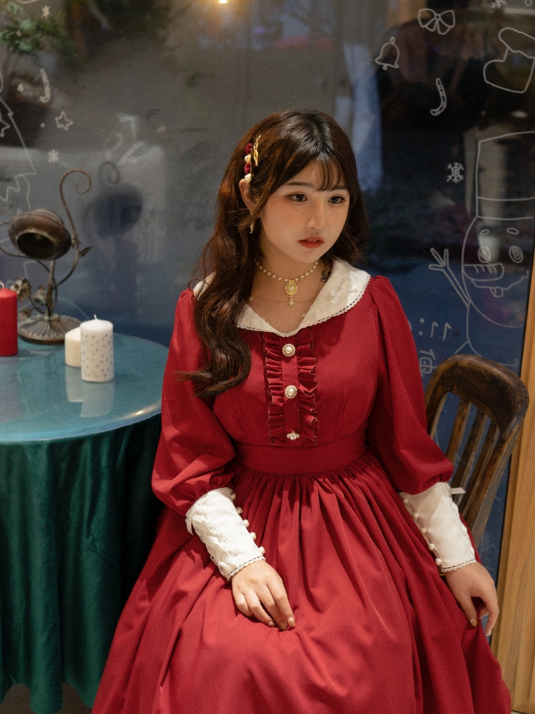 New French style girl retro Laura diary Laurie laurica Lolita CLA elegant skirt