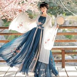 蝉佩汉服女正品原创含娇中国风对襟齐腰襦裙夏季仙气学生古装秋冬