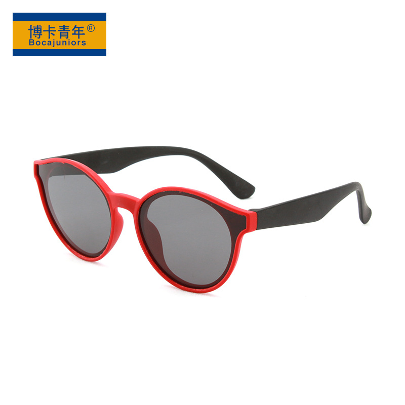 New round polarized sunglasses in 2019, anti ultraviolet sunshade sunglasses for boys and girls t1935z06