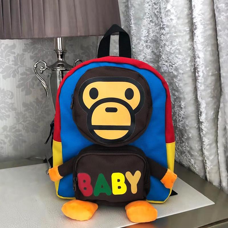 Kindergarten schoolbag boy girl baby 1-3-5 years old cute cartoon backpack trendy monkey schoolbag