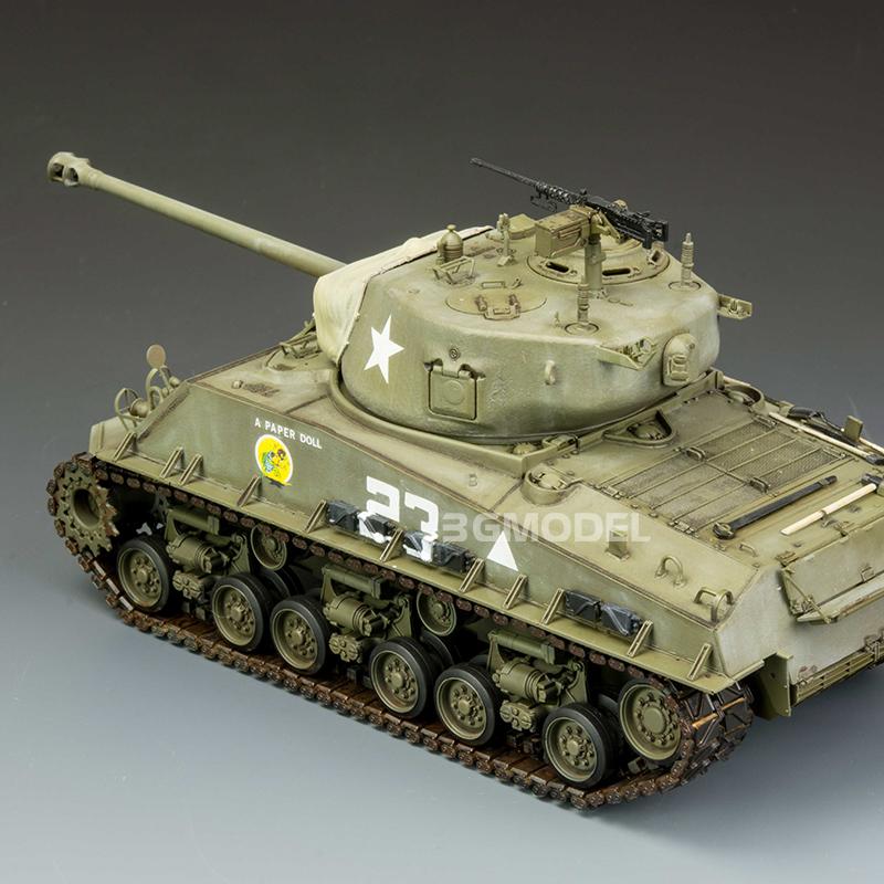 型坦克m4a3e8谢尔曼3g模型 麦田军事拼装 rm-5028 1\/35 美国中