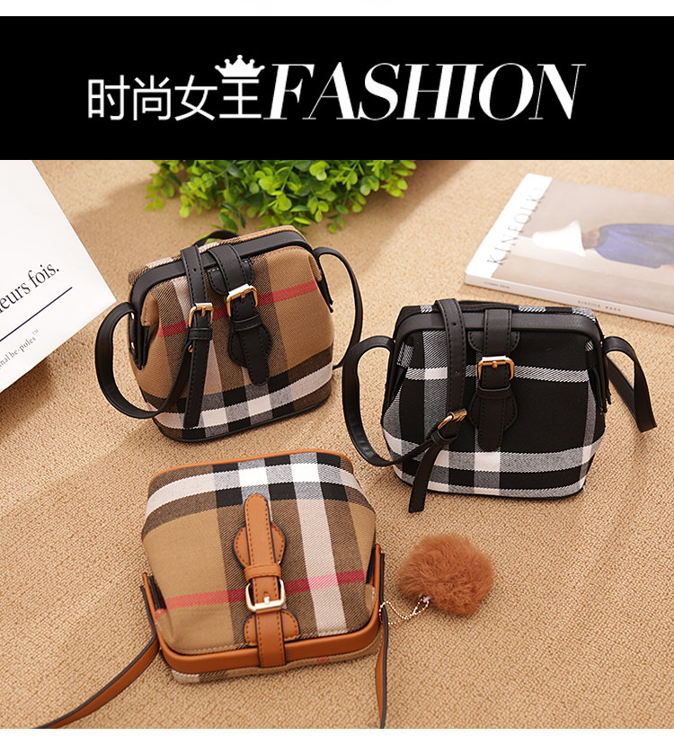 Back to the ancients small change bag for women small bag for women small one shoulder diagonal canvas bucket check Doctor Bag