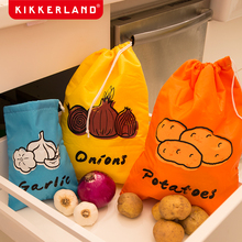 Kikkerland vegetable preservation bag garlic potato onion environmental protection thick and durable Christmas daily necessities