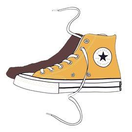 百世康威官方1970S黄色高帮帆布鞋男鞋女鞋THE STAR五角星板鞋限