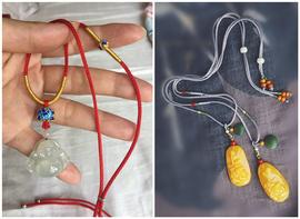 台湾线进口2mm玉米绳diy手工珠宝线材琥珀翡翠吊坠挂绳半成品配件图片