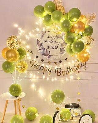儿童生日装饰场景布置派对装饰背景气球周岁男女宝宝生日礼物装扮