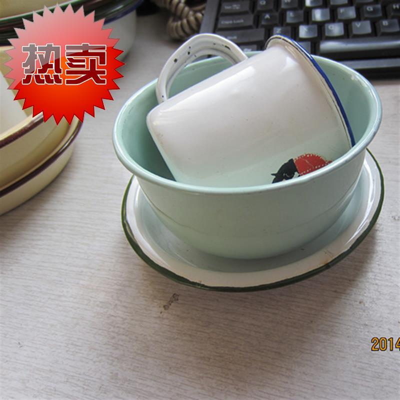 Enamel o dish / enamel cup / enamel bowl / three piece package / necessities of nostalgic hotel / unit price: 22 yuan