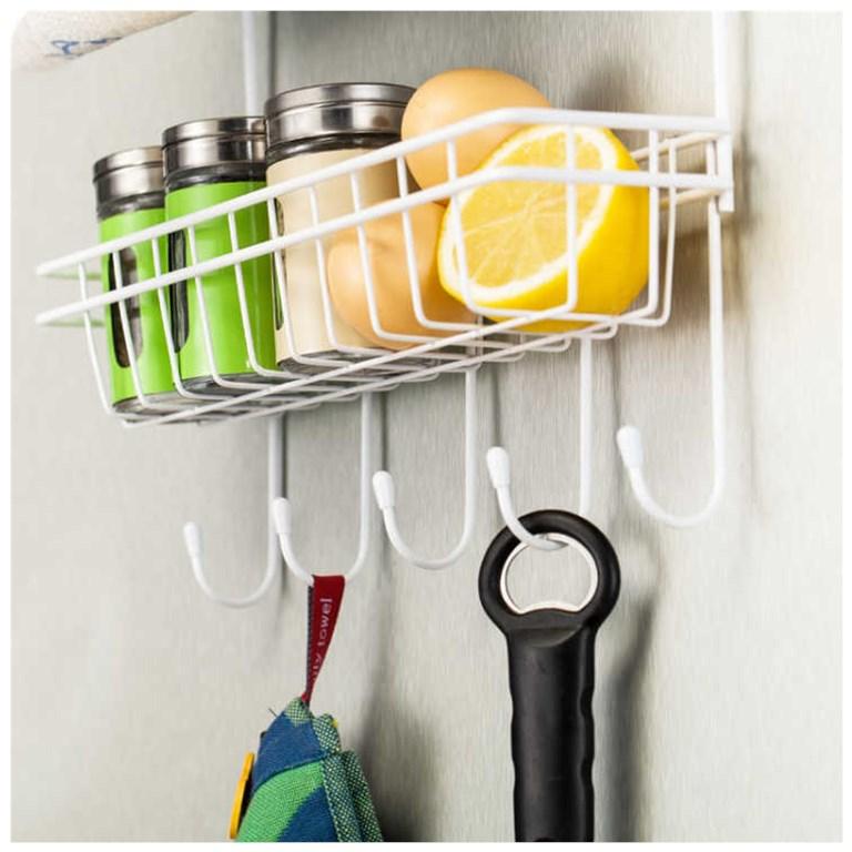 【冰箱送吸盘】收纳置物架侧壁置物架厨房挂件收藏架挂架壁挂层架