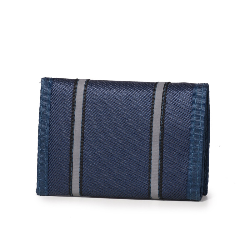 Mens fashion wallet Jamie road canvas short simple thin wallet student leisure sports vertical double large banknote