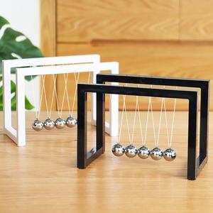 牛顿摆球撞球创意永动机仪现代客厅办公室桌面家居装饰混沌小摆件