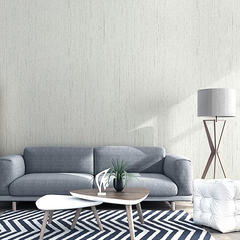 素色高档棉麻墙布客厅壁布无缝现代简约卧室背景墙纯色厚墙纸欧式