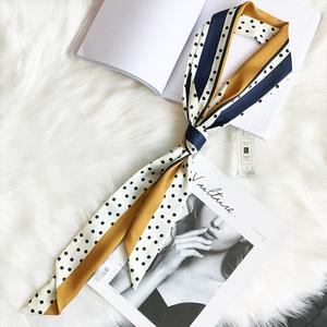 |原创设计|韩国细窄长条小丝巾chic复古文艺领巾女士围巾搭配衬衫