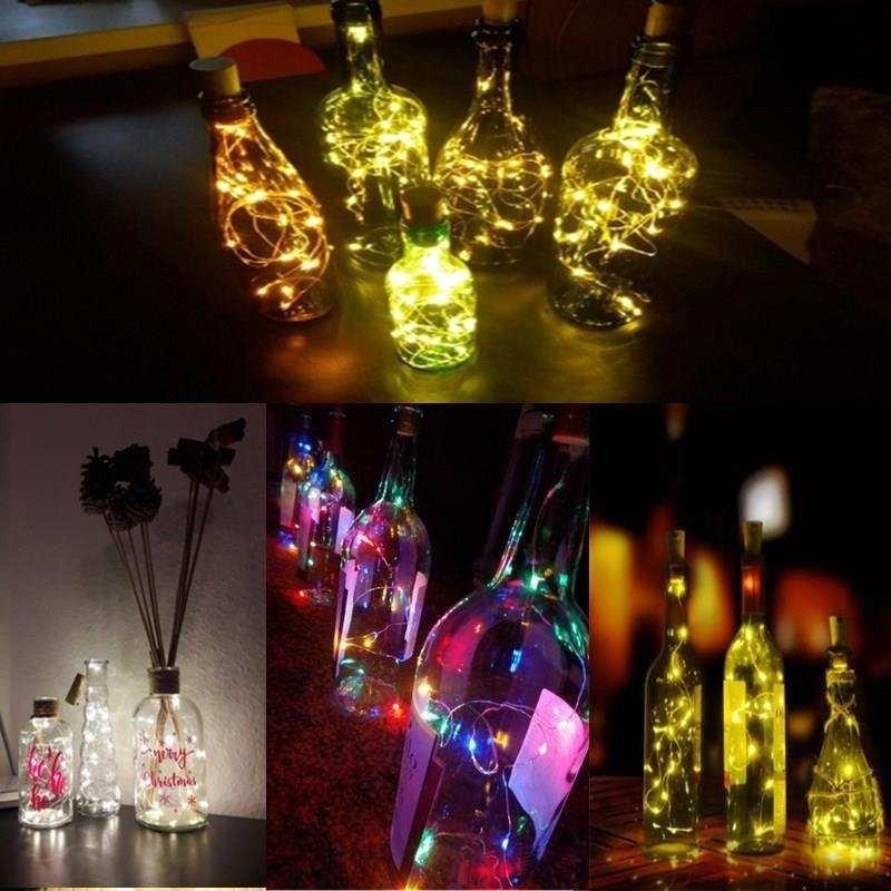 2M LED Garland String Fairy Lights for Glass DIY Bottle/Birt