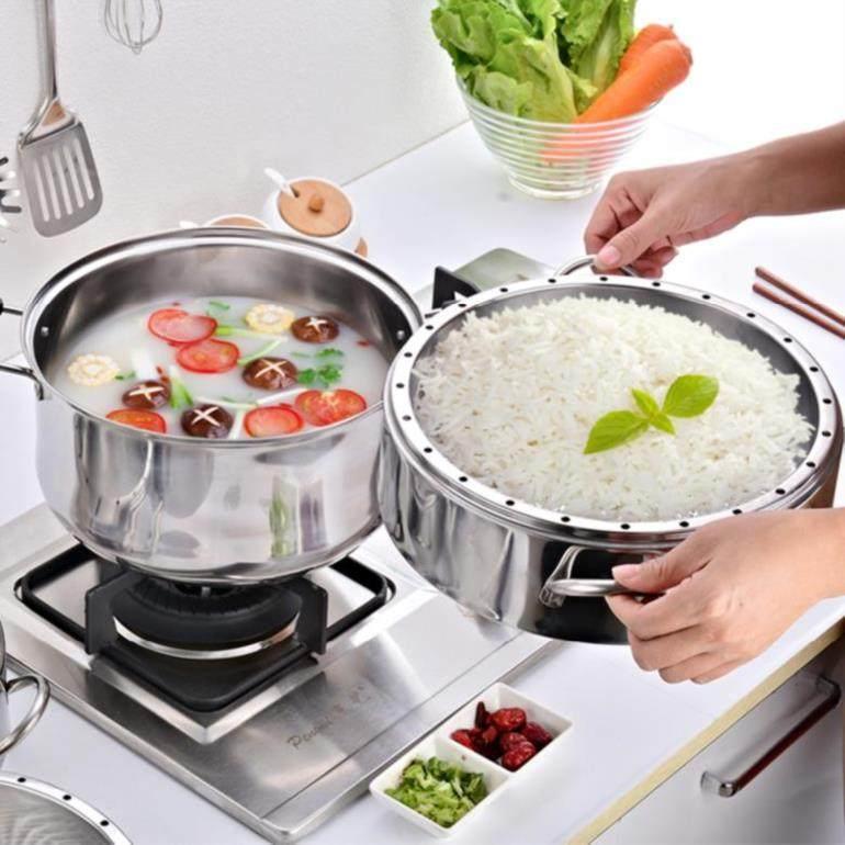 日式蒸家用3层无孔不绣钢大容量便携式菜海鲜多用个性五层2层